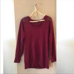 Sweaters - Long Burgundy Sweater